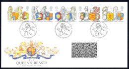 Great Britain Sc# 1796-1800 FDC 1998 26p Order Of The Garter, 650th Anniv. - FDC