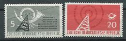 DDR 1958  Mi  620 - 621  Konferenz Der Minister Des Post- Und Fernmeldewesens  Postfrisch