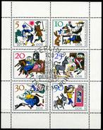 DDR - Michel 1236 / 1241 Kleinbogen - OO Gestempelt (A) - Tischlein Deck Dich