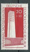 DDR 1960  Mi 783  Mahn- Und Gesenkstätte Sachsenhausen  Postfrisch