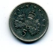 1990  5 NEW PENCE - 1971-… : Monnaies Décimales