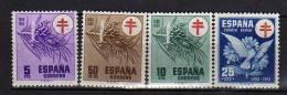 F-3 , España 1950-1953, Nº 1084-1087, Nuevos Con Goma, No Charnela - 1931-Aujourd'hui: II. République - ....Juan Carlos I