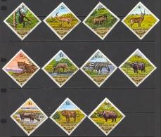 Guinea Sc# 685-695 Used 1975 1s-12s Mammals - Guinée (1958-...)