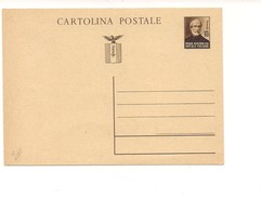 1636) INTERO POSTALE RSI MAZZINI CARTOLINA 30C NUOVO - 4. 1944-45 Repubblica Sociale