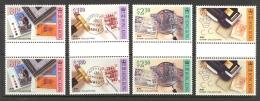 Hong Kong Sc# 652-655 MNH Gutter Pairs 1992 Stamp Collecting - Hong Kong (...-1997)