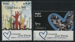 Peru 2016 UPAEP, Stop Human Trafficking 2v, (Mint NH), U.P.A.E. - Human Rights - Stamps - History
