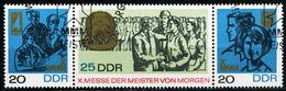 DDR - Michel 1320 / 1322 = WZd 180 - OO Gestempelt (A) - Messe Der Meister Von Morgen 67