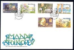Isle Of Man Sc# 738-743 FDC 1997 Folklore - Man (Ile De)