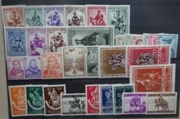 BELGIE   1941    Nr. 583-92 / 593 - 600 / 601 / 602 / 602-612 / 613 - 614   Scharnie      CW  20,00
