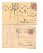 1643) Annullo Meccanico Targhetta Roma Ondulate E Lettere 2 Diversi - Storia Postale