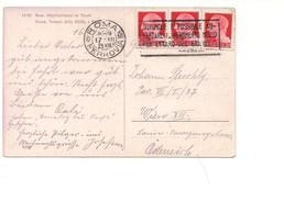 1645) Annullo Meccanico Targhetta BATTAGLIA GRANO IMPERIALE 20CX3 ACCORDO PORTOROSE - 1900-44 Vittorio Emanuele III