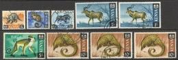 Kenya Sc# 22-34 SG# 22-34 (Assorted) Used Lot/9 1966-1969 Wildlife - Kenya (1963-...)