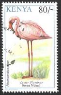 Kenya Sc# 609 Used (b) 1993 80sh Lesser Flamingo - Kenya (1963-...)