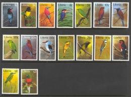Liberia Sc# 1278-1293 MNH 1997 1c-$3 Birds
