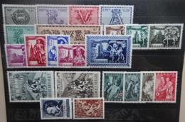 BELGIE   1943-44    Nr. 625-30 / 631 - 38 / 639 - 40 / 647 - 52           Postfris **          CW  26,50