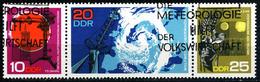 DDR - Michel 1343 / 1345 = WZd 189 - OO Gestempelt (A) - Meteorologie