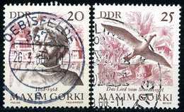 DDR - Michel 1351 / 1352 - OO Gestempelt (A) - Maksim Gorkij
