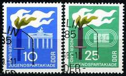 DDR - Michel 1375 / 1376 - OO Gestempelt (A) - Kinder- Und Jugendspatakiade 68