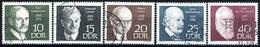 DDR - Michel 1386 / 1390 - OO Gestempelt (A) - Peresönlichkeiten II