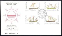 Malta Sc# 619-619C FDC 1982 Ships - Malta