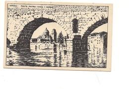 $3-5079 Veneto VERONA Xilo Photo Sborgi Illustratore Scattina Non Viaggiata Anni '30 - Verona