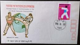 COREE DU SUD Taikwendo, Sur FDC Emis Le 25 Aout 1975. (FDC, 1er Jour, Enveloppe Premier Jour)