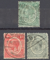 Nyasaland Protectorate Sc# 12-14 Used 1913-1919 ½p-2p KGV Definitives - Nyasaland (1907-1953)
