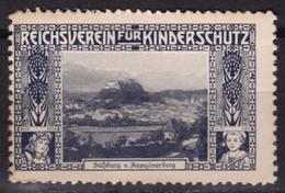 Austria KuK - Salzburg Kapuzinerberg - Reichsverein Für Kinderschutz Children Charity LABEL CINDERELLA VIGNETTE - Altri