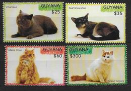 Guyana 2007 N°5901/5904 Neufs Avec Chats