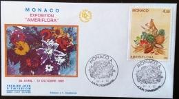 MONACO Gastronomie, Alimentation,  Ameriflora Yvert 1830 Sur FDC, 1er Jour - Alimentation