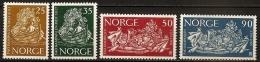 NORVEGE Gastronomie, Alimentation,  FAO, Faim, Blé, Céréales, Barque, Fruits, Poisson, Yvert 452/55 MNH, **