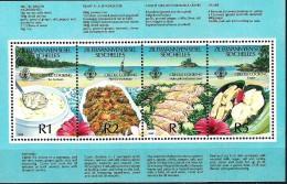 SEYCHELLES ILES ELOIGNEES, Gastronomie, Alimentation,  Cuisine Creole, Creole Cooking. BF Emis En 1989 **;, MNH