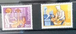 SUISSE, Gastronomie, Alimentation, 2 Valeurs Emises En 1992 **;, MNH