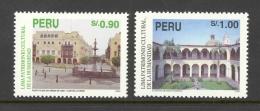 Peru Sc# 1101-1102 MNH 1995 90c-1s Union Club Fountain, Plaza Of Arms