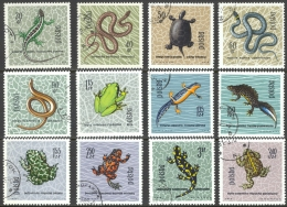 Poland Sc# 1134-1145 Used 1963 30g-3.40z Reptiles & Amphibians