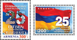 Armenia MNH** 2016 Mi 979-980 25th Anniversary Of The Independence Of RA 2 Stamps NEW - Armenia