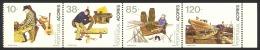 Portugal Azores Sc# 409b MNH Booklet Pane/4 1992 10e-120e Professions