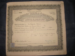 India 1940's The Asiatic Textile Co. Limited Bombay Share Certificate # FB04 - Industry