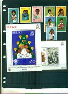 BELIZE ANNEE DE L'ENFANT I 8 VAL + 2 BF NEUFS A PARTIR DE 3 EUROS