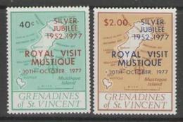 GRENADINES OF ST.VINCENT SG104/5 1977 ROYAL VISIT MNH