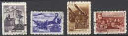 Russia Sc# 1205-1208 Used 1948 30k-60k Soviet Warfare