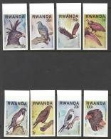 Rwanda Sc# 828-835 MNH IMPERF 1977 Birds Of Prey