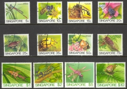Singapore Sc# 453a Used (a) 1986 5c Defs/Insects Redrawn - Singapour (1959-...)