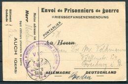 1916 France Kriegsgefangenen, Prisonniers De Guerre. Censor POW Postcard. Auch Gers - Freiburg, Germany