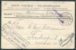 1918 France Kriegsgefangenen, Prisonniers De Guerre. Censor POW Feldpost Barraux Isere Postcard - Freiburg, Germany
