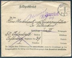 1915 Germany Dusseldorf Feldpost ZURUCK Redirected Cover
