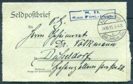 1915 Germany S.B. 2/39 Fusl. Reg. Feldpostbrief Lettercard, 50th Infant. Div. - Dusseldorf