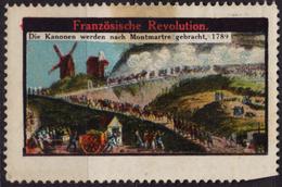 WINDMILL / France Revolution - Montmartre - LABEL CINDERELLA VIGNETTE / MH - Révolution Française