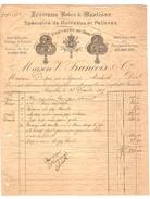 Facture Datée 31/12/1905 Maison V.François & Cie Manteaux Et Pelisses à BXL Passage St.Hubert PR4148 - 1900 – 1949