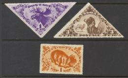 Tannu Tuva Sc# 61-69 MH Assorted 1935 Animals - Touva